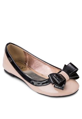 拼色zalora 心得蝴蝶結休閒平底鞋, 女鞋, 芭蕾平底鞋