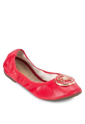 Florissa 扣環仿皮平底zalora taiwan 時尚購物網鞋, 女鞋, 鞋