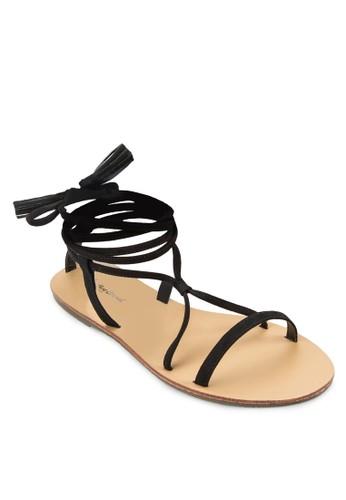 麂皮羅馬涼鞋, zalora 心得女鞋, 鞋