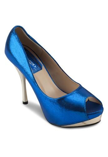 亮面魚口派對高跟zalora 台灣門市鞋, 女鞋, 厚底鞋