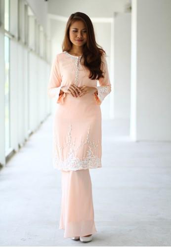 Baju Kurung Moden from Sweetheart in Orange