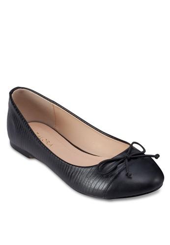 拼色圓頭仿皮平底鞋, 女鞋, 芭蕾平zalora 包包 ptt底鞋