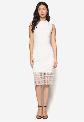 蕾絲拼接高領洋裝, 服飾, 緊身洋zalora taiwan 時尚購物網裝