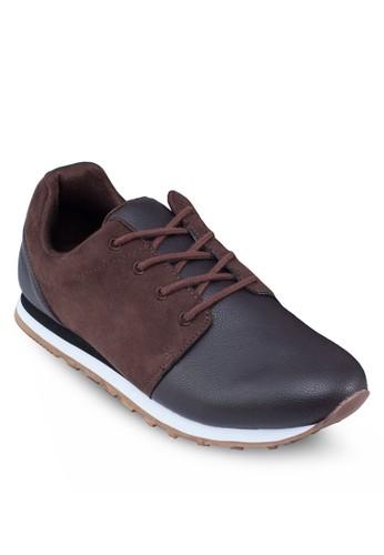 混合拼接運動鞋, 鞋, 休zalora時尚購物網的koumi koumi閒鞋
