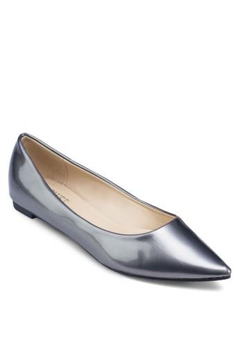 亮面尖頭平底鞋, 女zalora鞋鞋, 芭蕾平底鞋