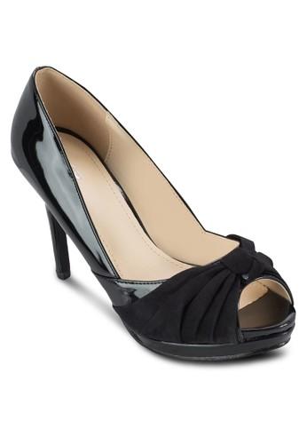 蝴蝶結露趾高跟鞋, 女zalora 台灣鞋, 魚口鞋