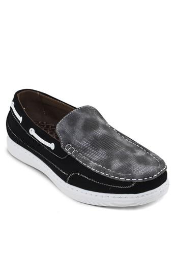皮革拼接zalora 手錶樂福鞋, 鞋, 鞋