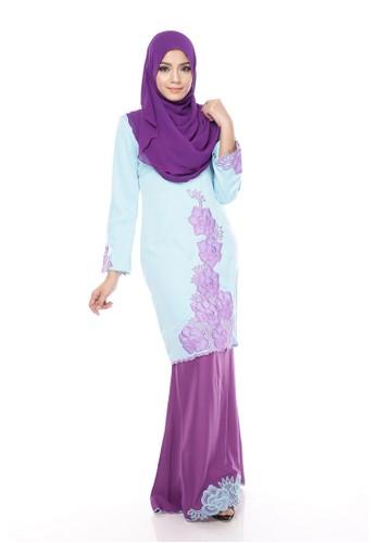 Maribeli Butik Rossa Kurung – Light Blue Purple from Maribeli Butik in Blue and Purple