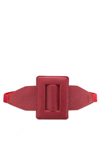 超大方形扣環腰帶, zalora 心得飾品配件, 腰封