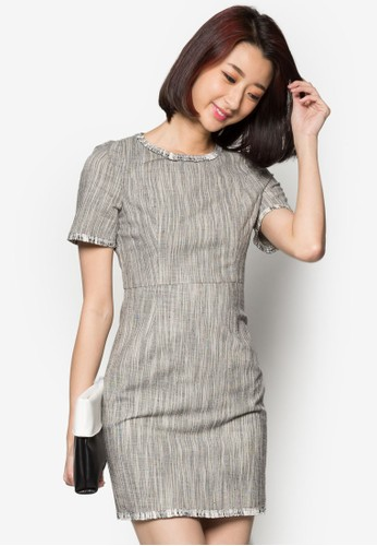 zalora鞋短袖連身裙, 服飾, 洋裝