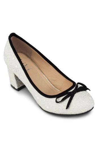 蝴蝶結蕾絲中跟zalora 折扣碼鞋, 女鞋, 厚底高跟鞋