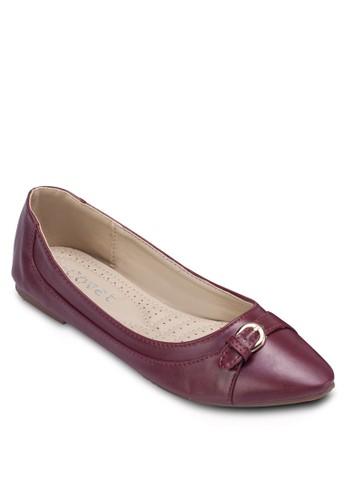 扣環飾帶平底zalora開箱鞋, 女鞋, 鞋