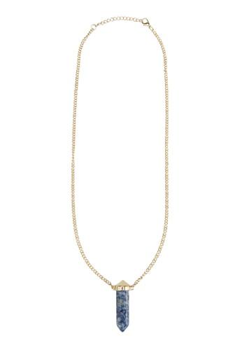 Lapis Lazuli 水晶吊zalora鞋子評價飾項鍊, 飾品配件, 項鍊