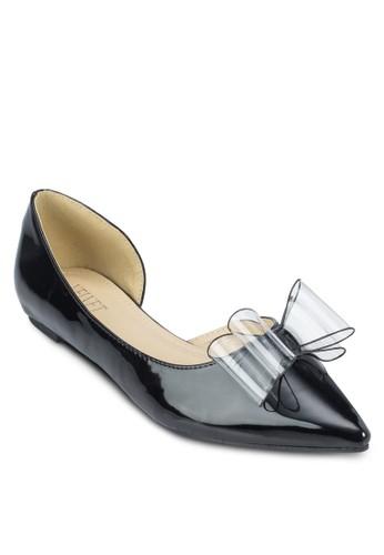 Vazalora退貨larie 側鏤空蝴蝶結尖頭平底鞋, 女鞋, 鞋