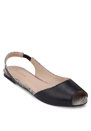 魚口踝帶平底鞋, 女zalora 手錶鞋, 魚口鞋