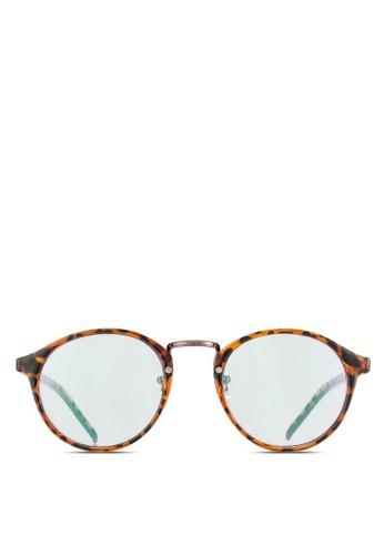 韓系玳瑁平光眼鏡, 飾品配件, 飾品zalora 衣服尺寸配件