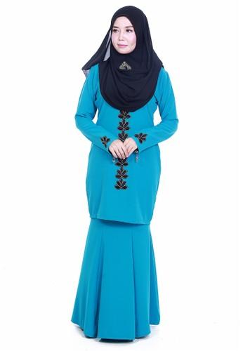 Farosa Kurung Deandra Turqoise from Farosa in Blue