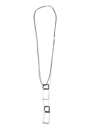 方形扣zalora taiwan 時尚購物網鞋子環項鍊, 飾品配件, 項鍊