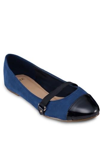圓頭拼接zalora退貨平底鞋, 女鞋, 芭蕾平底鞋