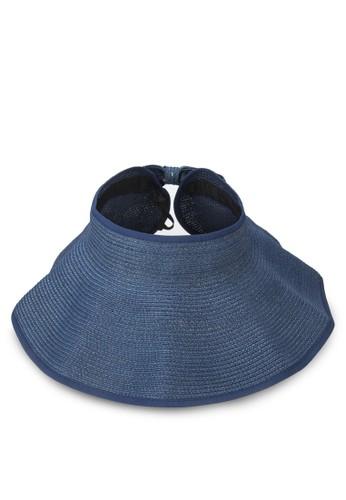 經典可卷折疊蝴蝶結zalora 評價草帽, 飾品配件, 爵士帽