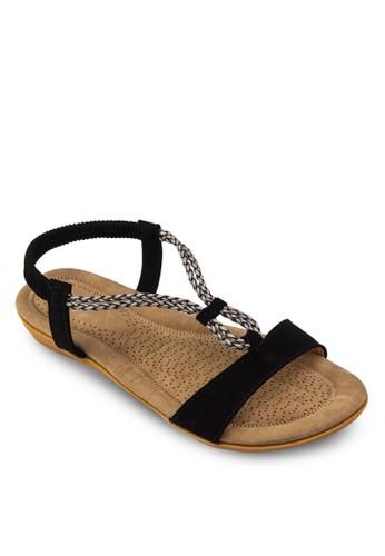 編zalora鞋子評價織繞踝平底涼鞋, 女鞋, 鞋
