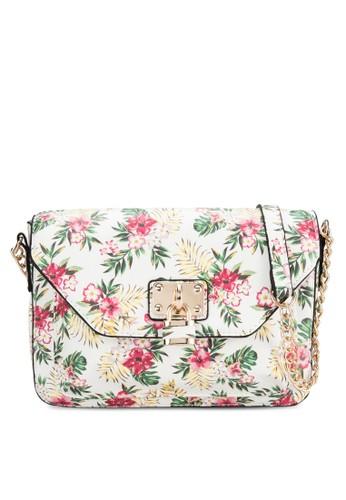 Appletzalora 內衣on 花葉印花斜背包, 包, 飾品配件