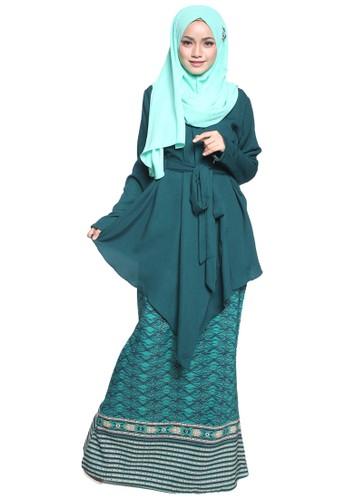 Atiya Baju Kurung Kimono from Tulips & Thyme in Green