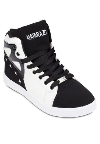 拼色鉚釘高筒運動鞋, zalora鞋子評價鞋, 鞋