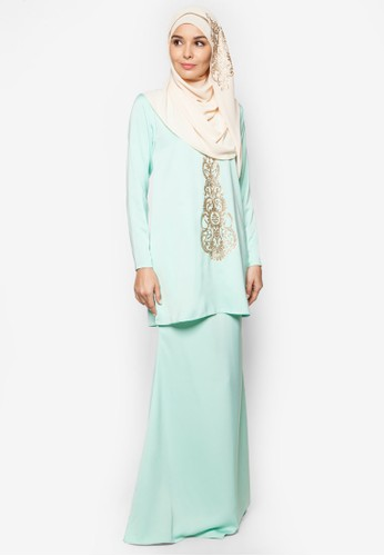 Maisara Baju Kurung from Bella Ammara for ZALORA in Green