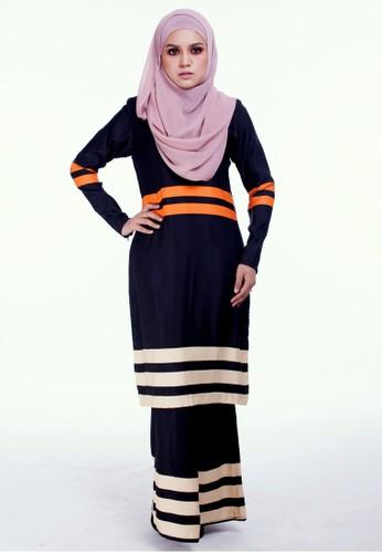 Baju Kurung Moden Jasmeen from Moodha  in Black