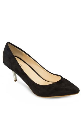 尖頭zalora退貨素面中跟鞋, 女鞋, 鞋