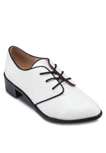 滾邊繫帶牛津鞋,zalora 鞋評價 女鞋, 鞋