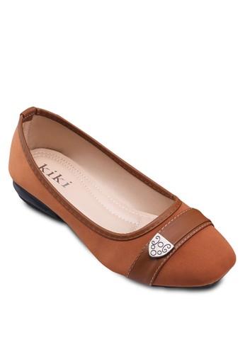 閃飾裝zalora 台灣飾帶平底鞋, 女鞋, 鞋