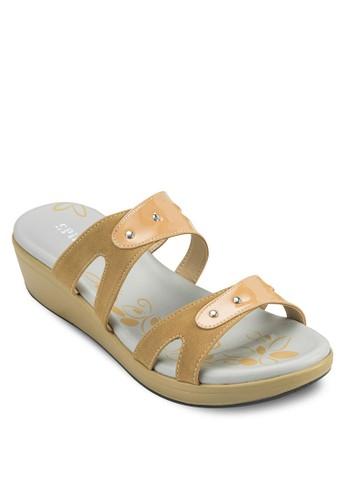 舒適楔型夾腳拖, 女鞋zalora 鞋評價, 楔形涼鞋