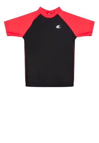 Colour Block Surf Shirt from HAWAII in Black