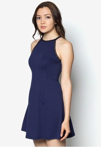 zalora鞋子評價削肩細肩帶洋裝, 服飾, 服飾