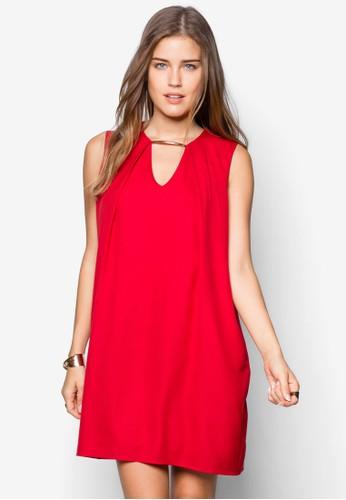 金屬zalora 衣服評價條鏤空連身裙, 服飾, 服飾