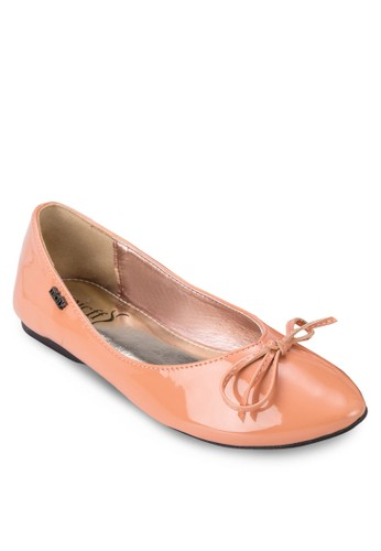 漆皮蝴蝶結娃娃鞋, 女鞋, zalora 鞋評價芭蕾平底鞋