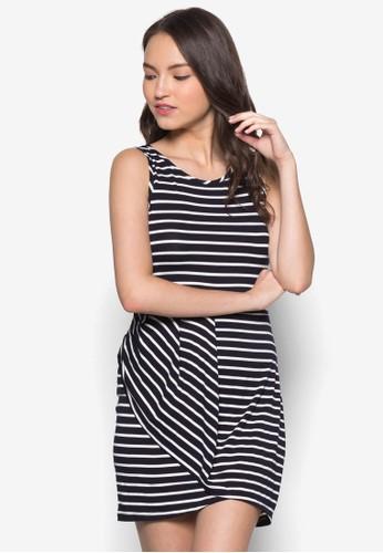 條紋裹zalora 內衣式連身裙, 服飾, 服飾