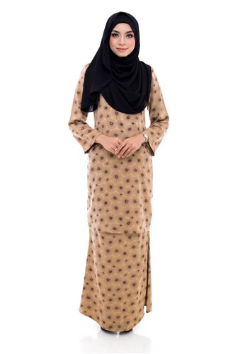 Kurung Modern Humaira (Brown) from Nur Shila in Brown