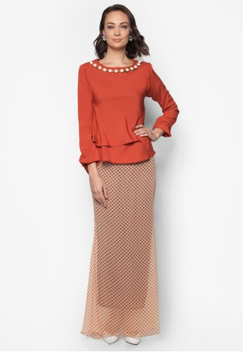 Midi Kurung 2 Layer Necklace from Zuco Fashion in Brown