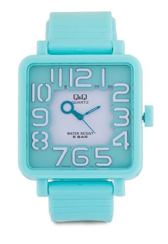 VR06J006Y 方框彩色手錶zalora taiwan 時尚購物網鞋子, 錶類, 其它錶帶