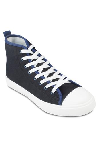 基本款高筒帆zalora 泳衣布鞋, 鞋, 休閒鞋