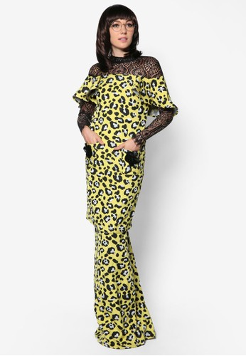 Kurung Tart from Woo/Fiziwoo for Zalora in Yellow and Multi