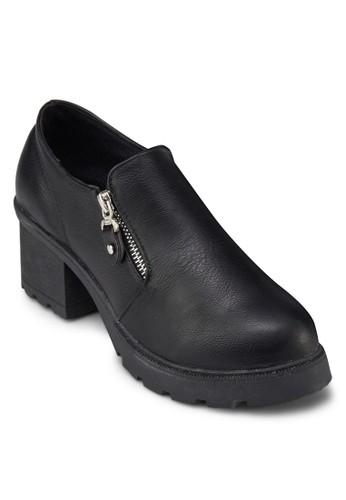 側拉鍊厚底踝靴,zalora taiwan 時尚購物網 女鞋, 靴子