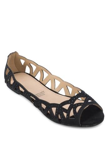鏤空露趾平底鞋, 女鞋, zalora 台灣鞋