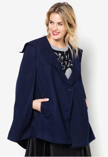 翻領披zalora退貨肩外套, 服飾, 夾克 & 大衣