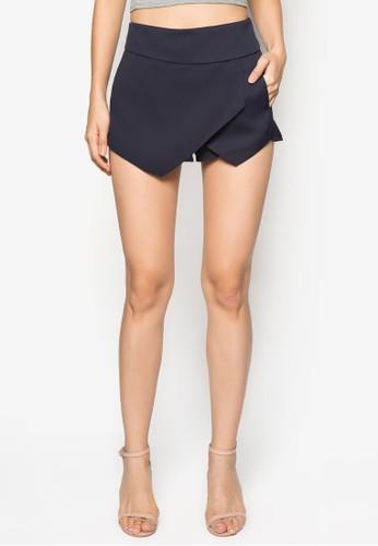 造zalora鞋型裹飾褲裙, 服飾, 西裝短褲