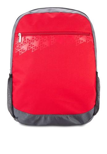 基本款拼色後背包, 包,zalora 衣服尺寸 飾品配件