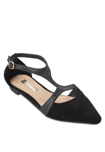 Sabbath zalora 評價側鏤空尖頭平底鞋, 女鞋, 鞋